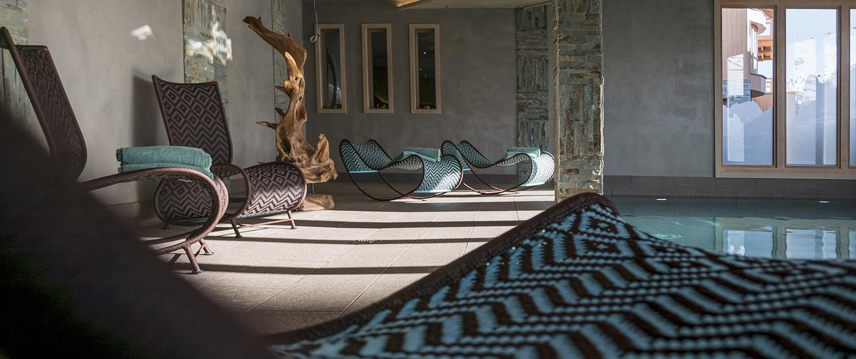 Espace détente de l'hôtel Le Taos à Tignes