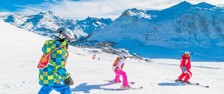 Cours de ski avec l'ESF à Tignes - Le Taos
